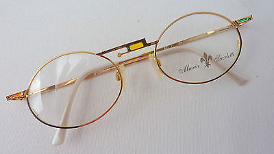 Women's Glasses Frame Metal Frames Oval Gold for Das Große Face SIZE (Spectacles For Oval Face)
