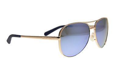 Michael Kors MK5004 Chelsea Polarized Sunglasses Rose Gold w/Purple Mirror