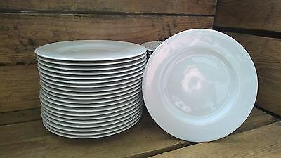 60 Stück Kuchenteller Speiseteller Dessertteller Porzellan  weiss 19cm für Feste