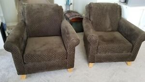 Pair of comfy arm chairs from Urban Barn - just 150 for both!