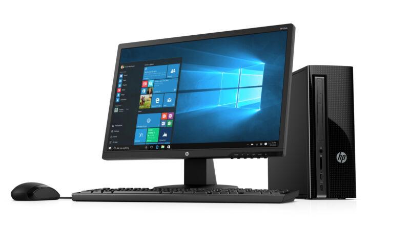 "HP 270-p013wb Slim Desktop and 21.5"" Monitor Bundle Intel 2.9 GHz 4GB 1TB HD"