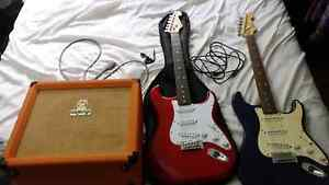 2 guitars and a orange amp Helensvale Gold Coast North Preview