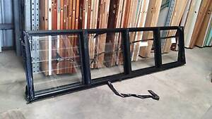 Louvre - 840h x 3360w Black Aluminium 4 Bays w/ Clear Glass *NEW* Loganholme Logan Area Preview