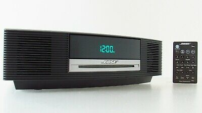 Bose AWRCC1 Wave Music System CD Player Radio Stereo Alarm Clock Bundle Remote