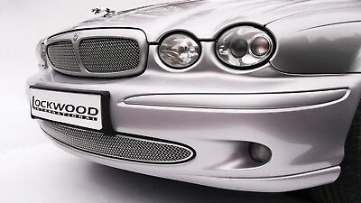Jaguar S-Type Lower and Upper Front Grilles Stainless Mesh approx 02-04