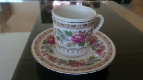 Vintage Chinese Jingdezhen Demitass Porcelain Tea Mug and Saucer, 1970s or 1980s