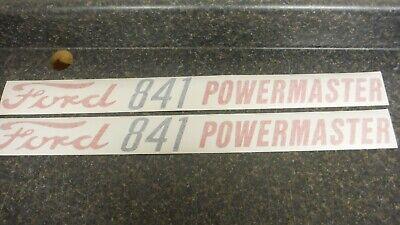 Ford 841 Powermaster Hood Decals. Hood Only Both Sides. Vinyl. See Details