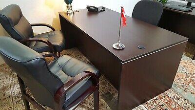 Executive Desk Dark Cherry Laminated