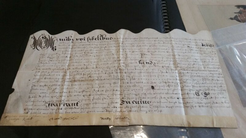 17th century english letter 1634