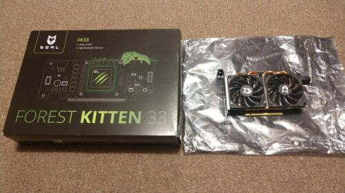 SQRL FK33 Forest Kitten FPGA Blockchain Mining Card Xilinx VU33P Box Efficient
