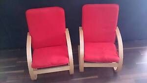 Ikea Kids Chairs - pair of cute red chairs with washable covers Preston Toowoomba Surrounds Preview