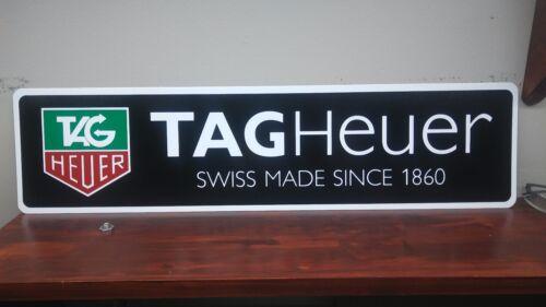 "TAG Heuer logo Aluminum Sign  6"" x 24"""