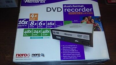 MEMOREX DVD DUAL+_FORMAT RECORDER DOUBLE LAYER INTERNAL E-IDE CD & DVD DRIVE