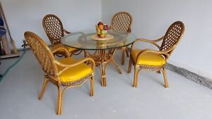 Rattan table and chairs