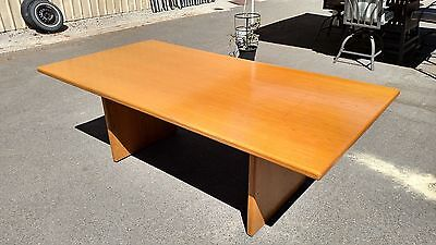 Conference Room Table Light Oak 42x 84 Solid Wood We Deliver Locally Nor Ca