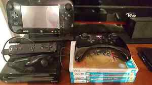 Wii U 32GB premium console + games and controllers Banksia Park Tea Tree Gully Area Preview
