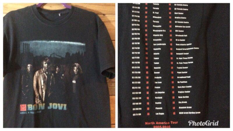 Bon Jovi Have A Nice Day tour Shirt 2005-06 N American Tour Medium
