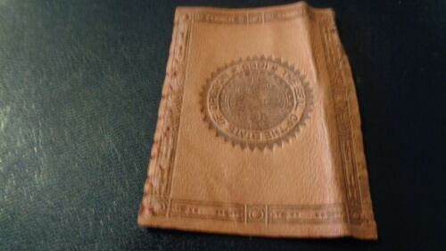 1912 L-23 State Seal Tobacco Leather - Oregon