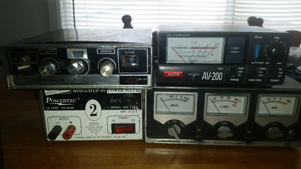 Radio power meters, power supply and a old 27meg