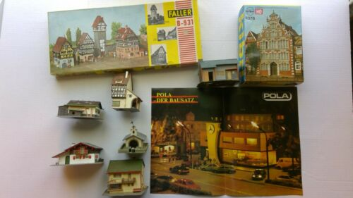 Faller HO Scale Model Kit Lot Kabri Pola German Parts and Pieces Buildings Homes