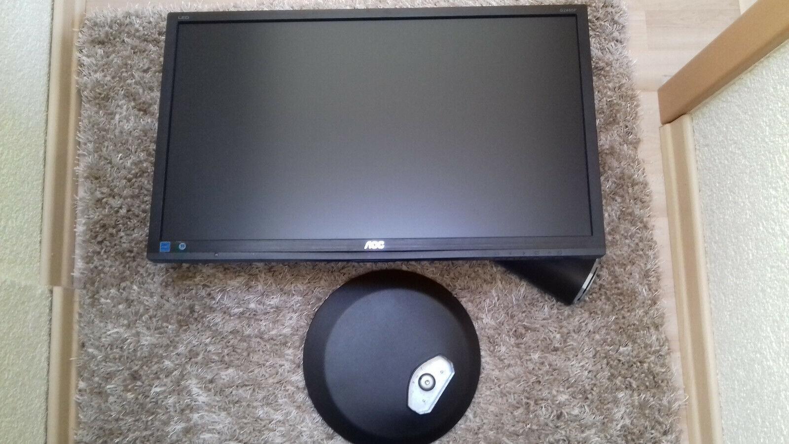 AOC G2460PQU 60,9 cm (24 Zoll) Monitor (VGA, DVI, HDMI, Display Port, 1ms Reakti