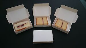 50 White BUDGET Party Single Slice Cake Boxes with Free Postage