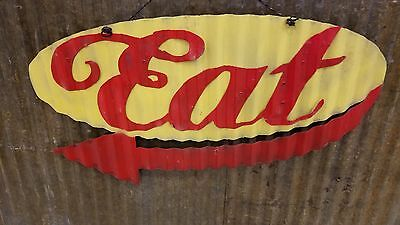 Eat Mid Century Retro Metal Sign