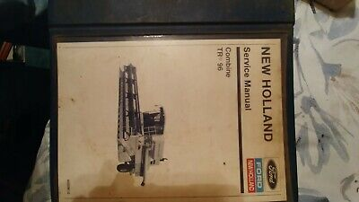 Genuine Ford New Holland Tr96 Combine Dealer Service Manual