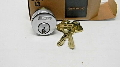 Schlage Everest 29 Mortise Cylinder- Satin Chrome- New - S123 Keyway