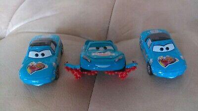 Disney Pixar Cars Diecast Rare Lot Lightning Storm Lightning McQueen Fan Mia Tia
