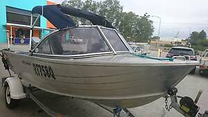 Stacer 429 Seahawk Boat 30hp Mariner 2008 14ft Telwater Trailer Stapylton Gold Coast North Preview