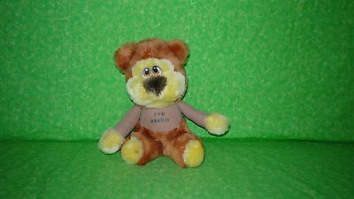 VINTAGE Gold Circle Stores I've Head It BEAR PLUSH Stuffed Toy Made in Korea 7
