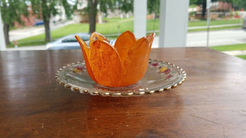 Vintage 1906 Shriners Convention Cup and Saucer Orange Peel Cup