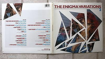 The Enigma Variations Two   2-LP Set   Plan 9 Agent Orange TSOL Wire Mojo Nixon Nixon Wire