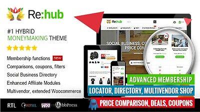 Rehub Directory Shop Coupon Affiliate Wordpress Themelatest Version