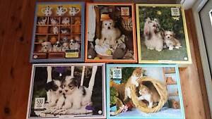 5 x Leanne Giblett-Denys Pet Portrait 500 piece puzzles Belrose Warringah Area Preview