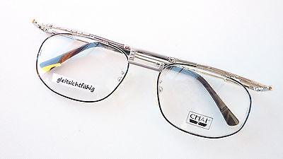 Stabil Grösse M Brillen-fassung Brille Aus Metall In Braun Mit Kleinen Gläsern Beauty & Gesundheit
