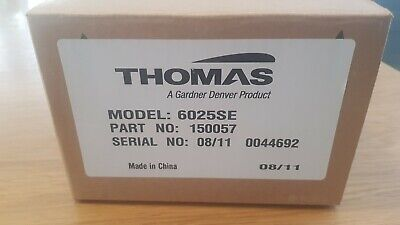 Thomas Linear Diaphragm Compressorvacuum Pump 150057 Model 6025se 60 Hz 115v
