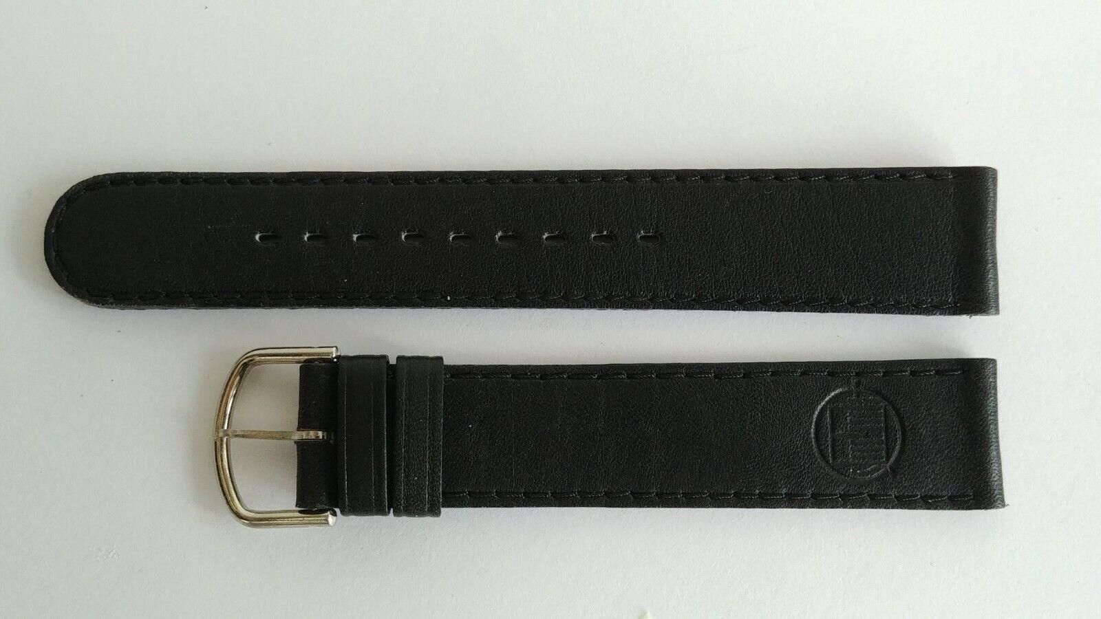 Alain Silberstein Lederband 17 mm Schwarz mit Schliesse