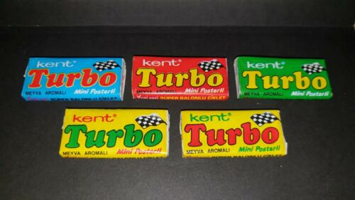 Set from Rare Turbo unopened gums 1990-1992 Turkey