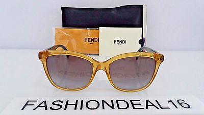 New FENDI Authentic Yellow Teal FF 0054/S MQWYE 55mm Sunglasses - Teal Sunglasses