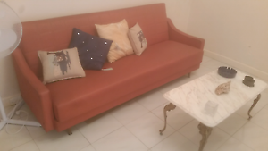 Retro leather lounge Mona Vale Pittwater Area Preview