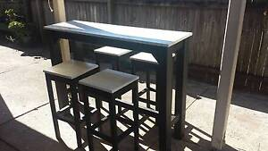 New indoor bar table with 4 matching stools Loganlea Logan Area Preview