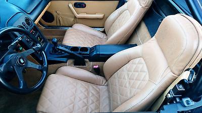 1990-1995 Mazda Miata / MX-5 Replacement Leather Seat Covers Cognac