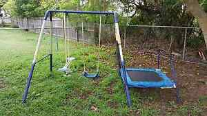 Give away swing set with mini trampoline Wynnum Brisbane South East Preview