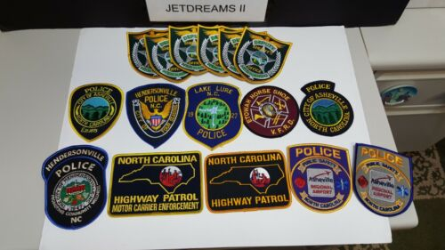 MIXED LOT 16 POLICE FIRE PATCHES NORTH CAROLINA FLORIDA AIRPORT HIGHWAY PATROL