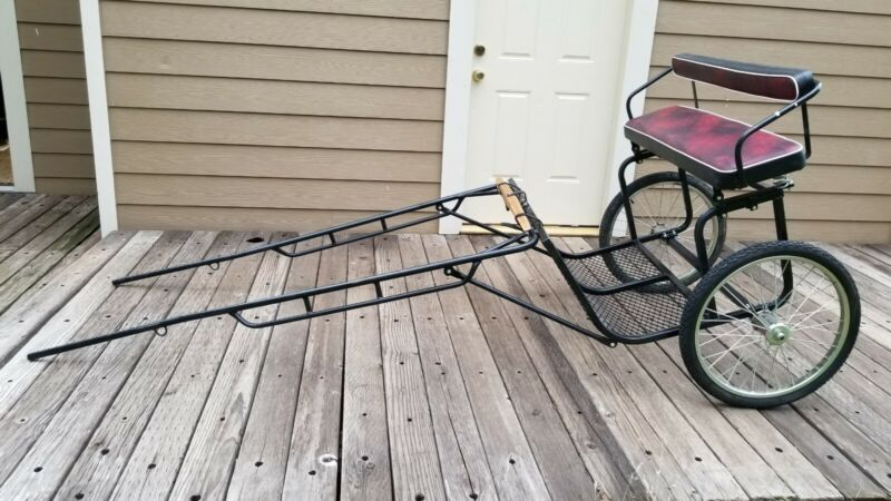 """Easy Entry Horse Riding Driving Cart 72"""" Shafts 26"""" between shafts & 24"""" Tires"""
