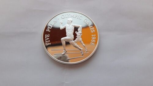 Botswana 5 pula 1988 Olympic Games 1988 silver proof crown size
