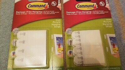 2 x 3M Command SMALL Picture Strips Set Of 4 Strips -...