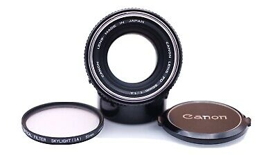 Canon FD 50mm 1:1.4 Camera Lens with Case Exc Near Mint #1 Japan